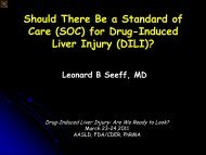 Should There Be a Standard of Care (SOC) for Drug ... - AASLD