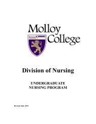 Division of Nursing - Molloy College