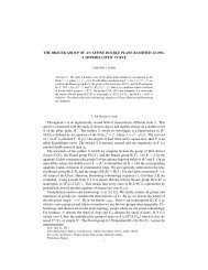 THE BRAUER GROUP OF AN AFFINE DOUBLE PLANE RAMIFIED ...