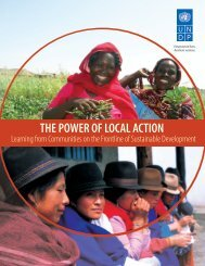 The Power of Local Action: Learning from ... - Equator Initiative