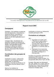 Rapport moral 2003 Campagnes Coordination des ... - ReMeD
