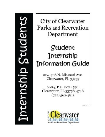 Student Internship Information Guide - City Home