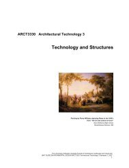 Technology and Structures - The University of Western Australia