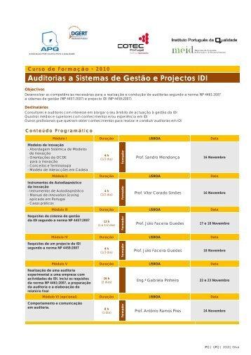 Auditorias a Sistemas de Gestão e Projectos IDI - IPQ
