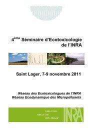 Télécharger les actes du séminaire ECOTOX 2011 (.pdf) - Inra