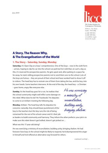 Letter to Supporters June 2010 ( pdf ) - The London Institute for ...