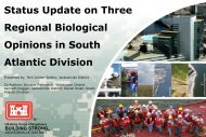Status Update on Three Regional Biological Opinions in South - fsbpa
