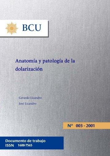 Anatomía y patología de la dolarización - Biblioteca Virtual de ...