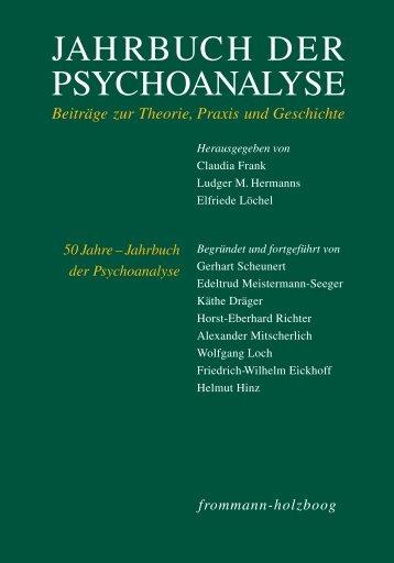 Sonderprospekt Psychoanalyse - Frommann-Holzboog