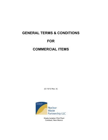 NWP General Terms & Conditions for Commercial Items (10-12, Rev ...