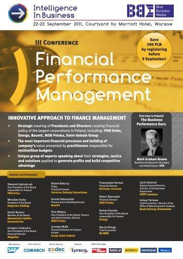 Financial Performance Management - Blue Business Media