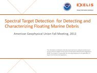 Spectral Target Detection for Detecting and Spectral Target ...