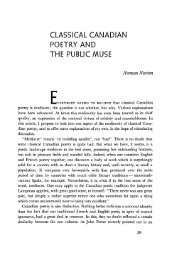classical canadian poetry and the public muse - University of British ...