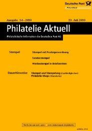 Stempel - Deutsche Post - Philatelie