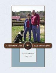 Carolina Farm Credit 2006 Annual Report