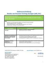entra, Berater/in von Precision Farming Lösungen