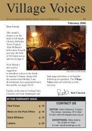 February - villagevoices.org.uk