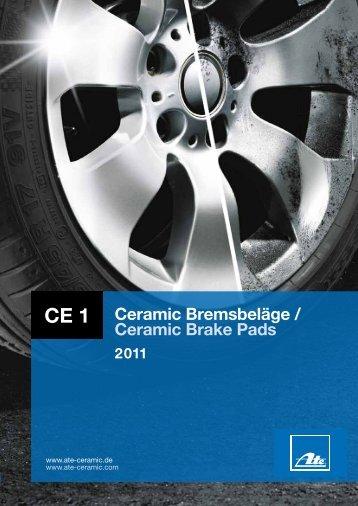 Ceramic Bremsbeläge / Ceramic Brake Pads