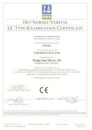 det norske veritas ec type-examination certificate - Herman Gotthardt ...