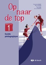 Guide pédagogique - Secondaire - De Boeck