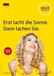 Erst lacht die Sonne. Dann lachen Sie. - SEG Solar Energy GmbH
