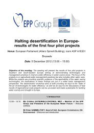 Halting desertification in Europe- - Universidad Politécnica de ...