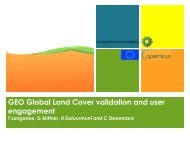 GEO Global Land Cover validation and user engagement