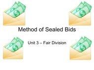 Method of Sealed Bids