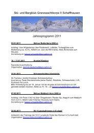 Programm 2011 - bei der SV GWK II