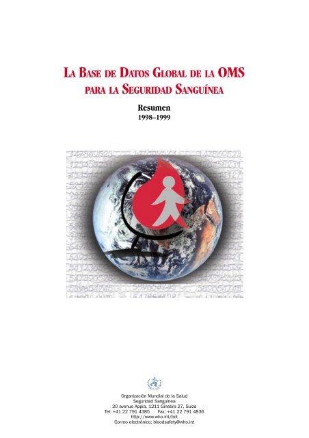 La base de datos global de la OMS para la seguridad sanguínea