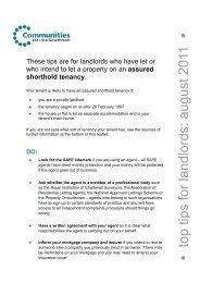 Top tips for landlords - Gov.uk