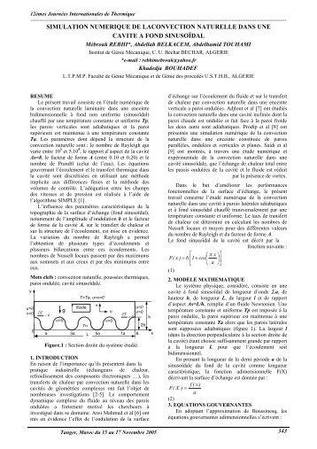simulation numerique de la convection naturelle dans une ... - iusti