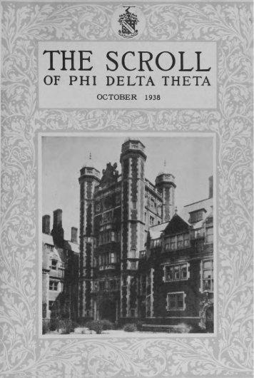 1938–39 Volume 63 No 1–5 - Phi Delta Theta Scroll Archive