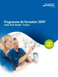Programme de formation 2009 - Astra Tech
