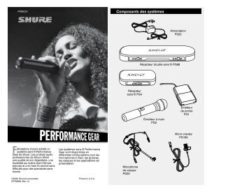 Shure Performance Gear Wireless User Guide French - Canford Audio