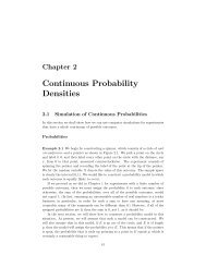 Chapter 2 Continuous Probability Densities - DIM