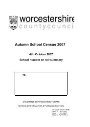 October 2007 (PDF) - Worcestershire County Council