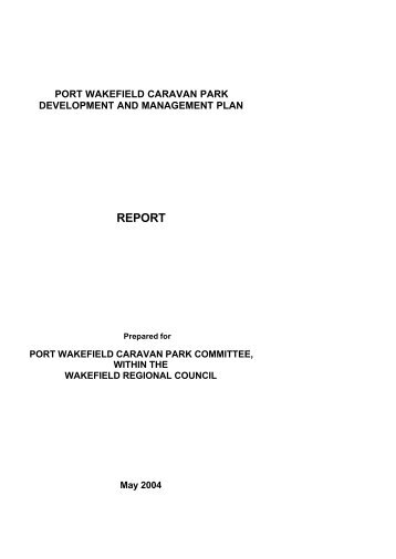 Port Wakefield Caravan Park Development and Management Plan