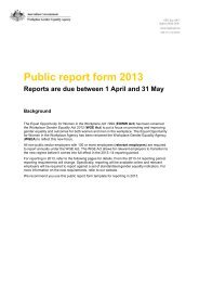 Workplace Gender Equality report submission 2013 - Australian Red ...