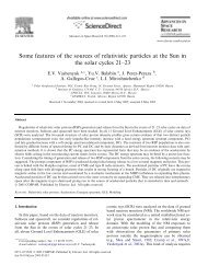 Some features of the sources of relativistic particles at the Sun in the ...
