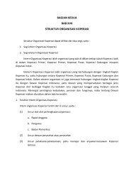 bagian kedua bab xvii struktur organisasi koperasi - Smecda