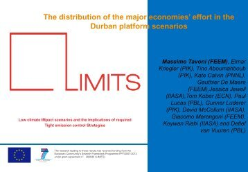 Effort in the Durban Platform Scenarios - World Energy Outlook