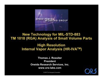 New Technology for MIL-STD-883 TM 1018 (RGA) Analysis of Small ...