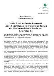 Starke Bauern – Starke Steiermark Landesbauerntag als ...