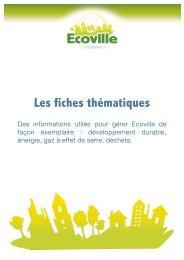 Les fiches thématiques - Ecoville