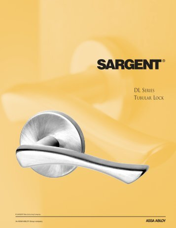 PDF (1.5MB) - Sargent Locks