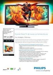 58PFL9956H/12 Philips Televisor Smart LED con ... - Crambo