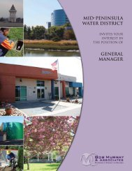 mid-peninsula water district general manager - Bob Murray ...