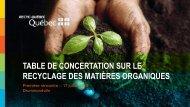 table de concertation sur le recyclage des matières organiques