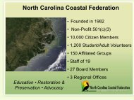 North Carolina Coastal Federation - Restore America's Estuaries